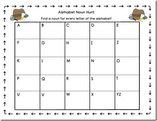 alphabet noun hunt-page-001