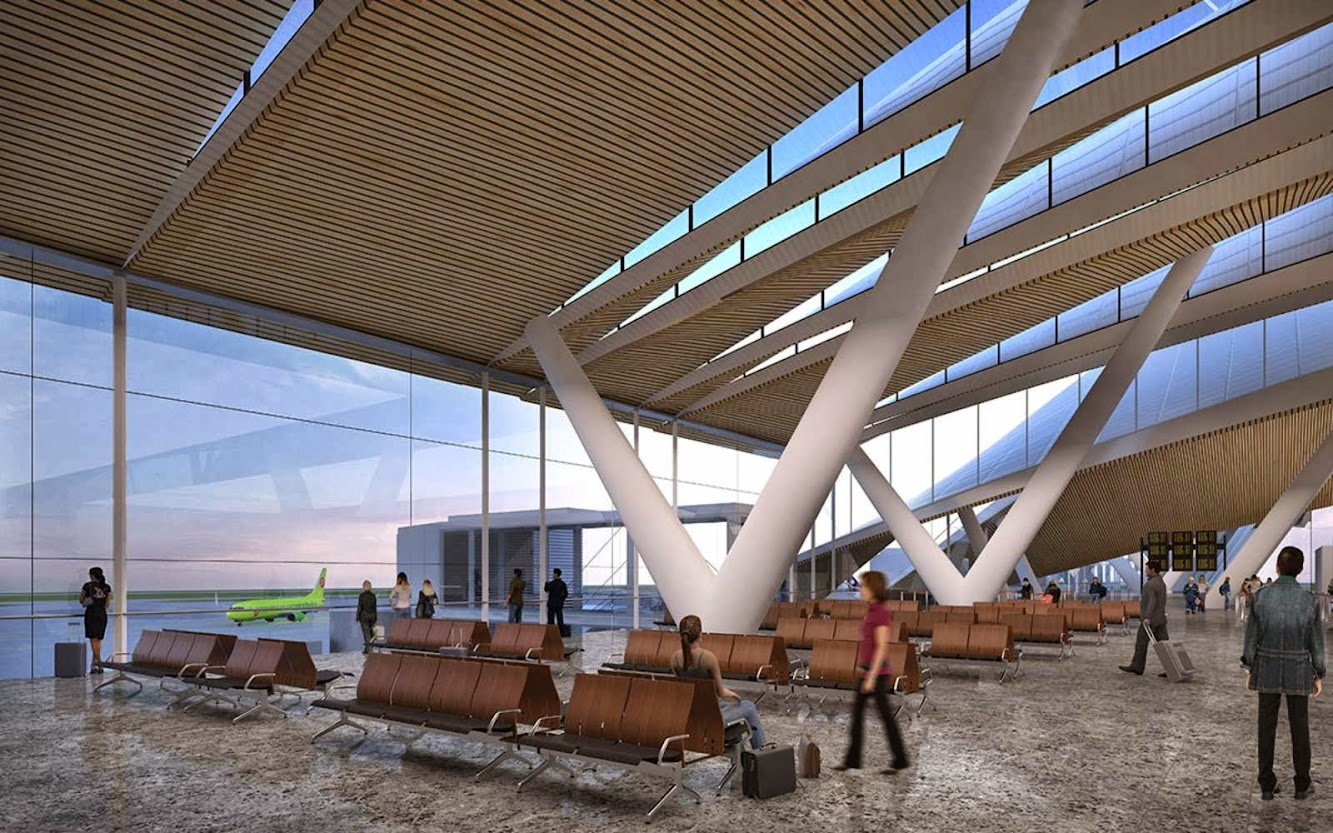 Rostov on Don Airport by Twleve architects