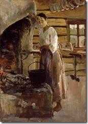 Akseli Gallen-Kallela - Women roasting fish