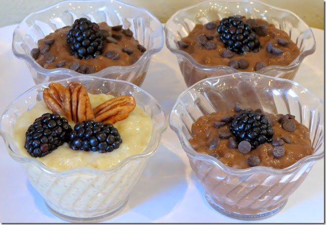 Chocolate Coconut Tapioca Pudding
