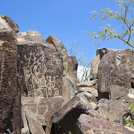 New Mexico Petroglyphs by Chris Snyder - Landscapes Caves & Formations ( old, desert, ancient, petroglyphs, rock art, nm, new mexico,  )