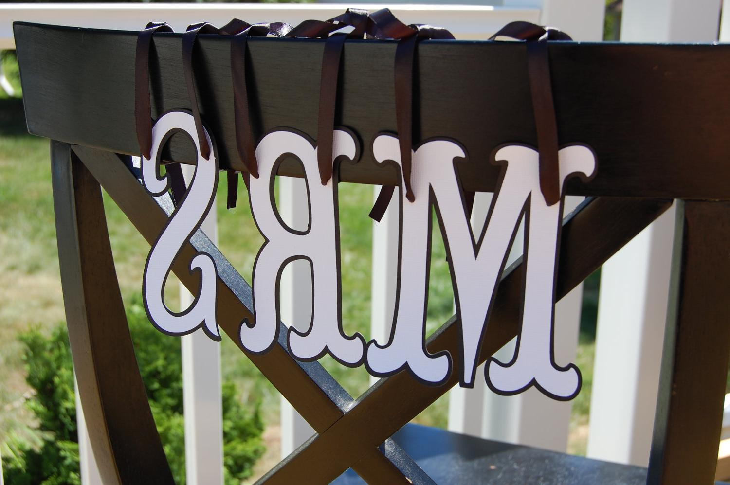 Mr and Mrs Banner, Chair Signs