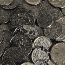 Coins by Sarah Harding - Novices Only Objects & Still Life ( coins, still life, novices only, object, close up )