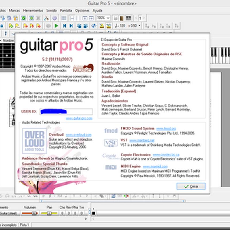Guía de Guitar Pro - Parte 1