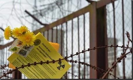 Luftpost nach Tschernobyl - Andacht  29. Jahrestag am AKW Grafenrheinfeld. Foto Gehrold