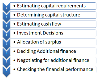 executive functions of financial management