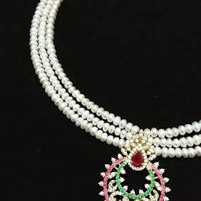 Mission accomplished 😎My new creation 😎Hyderabad pearl string 😃😇 by Swati Nairi - Artistic Objects Jewelry