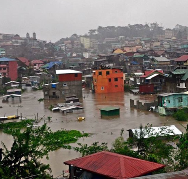 Baguio City, Philippines is flooded after Typhoon Koppu hit the area, 21 October 2015. Photo: just.donnah / instagram