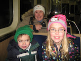 Bryan, Lori and Hannah on the L in Chicago 01142012