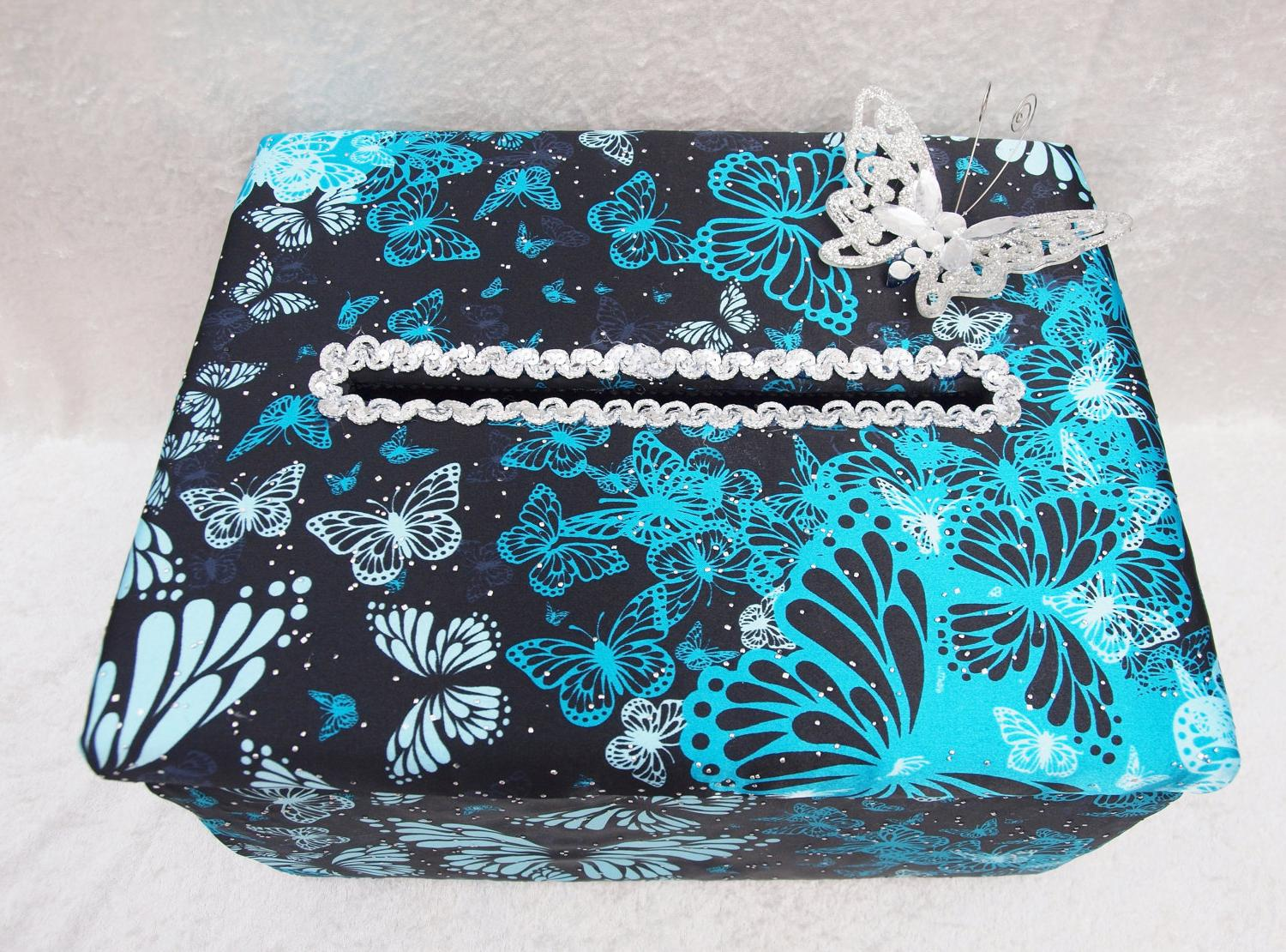 Wedding Card Box Teal and