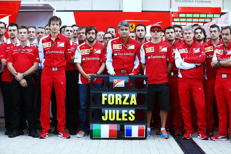 Ferrari в поддержку Жюля Бьянки на Гран-при России 2014