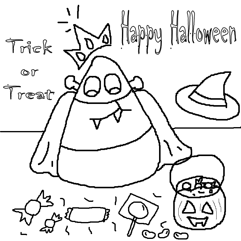 Halloween Coloring Pages on Pinterest Halloween
