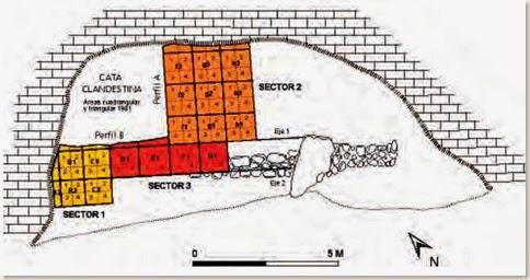 Plano del Abric de la Falguera