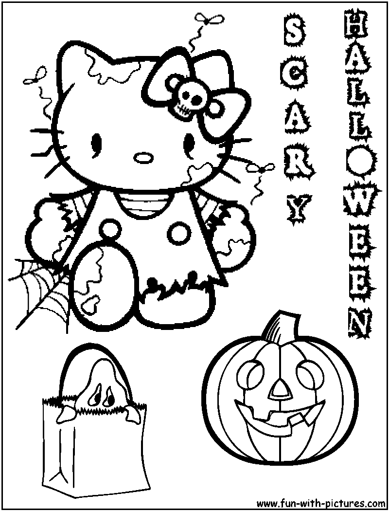 great cat coloring pages in to print with - Cute Halloween Cat Coloring Pages