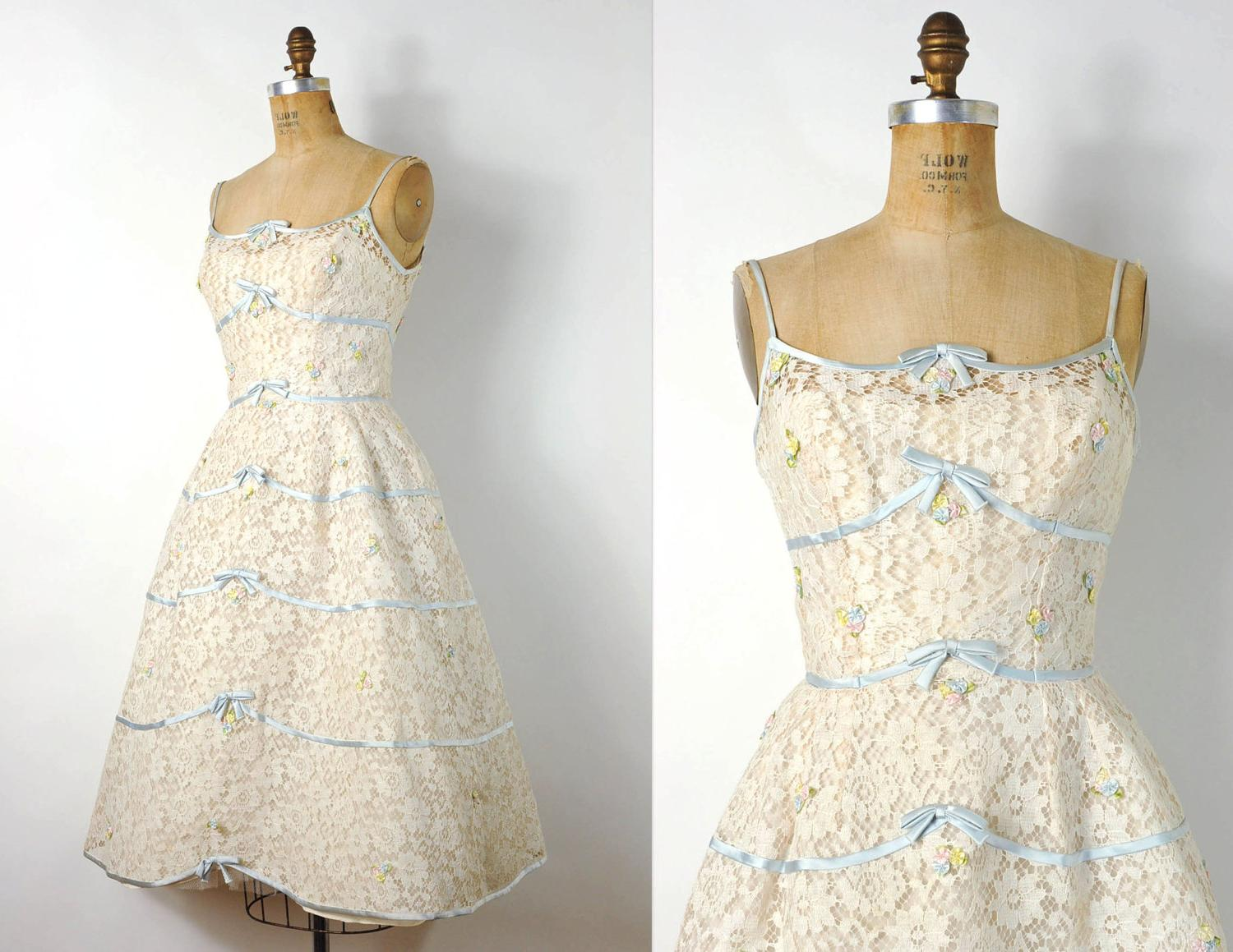 vintage 1950s lace wedding