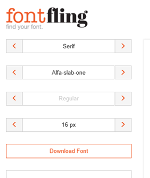 Fontfling, para descargar fuentes open source totalmente gratis