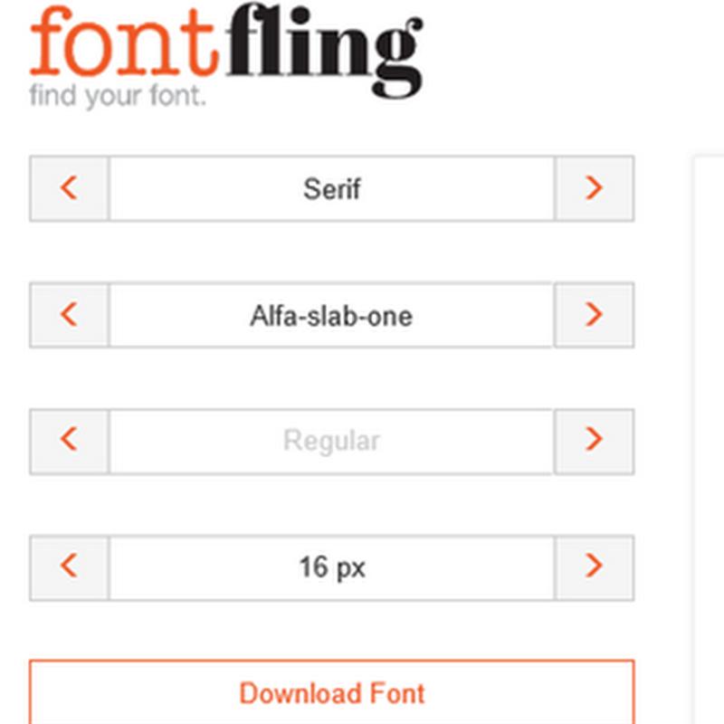 Fontfling, para descargar fuentes open source totalmente gratis