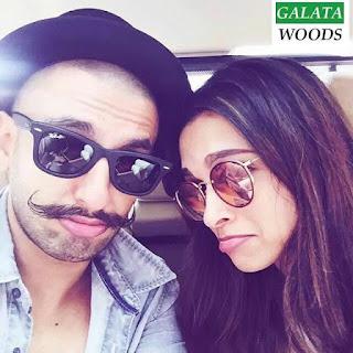 Ranveer Singh, Deepika Padukone Selfie Images Pics Stills Gallery