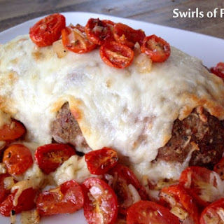 Tuscan Turkey Meatloaf with Oven-Roasted Tomatoes