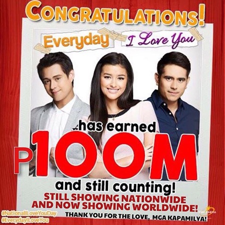Everyday, I Love You earns P100M