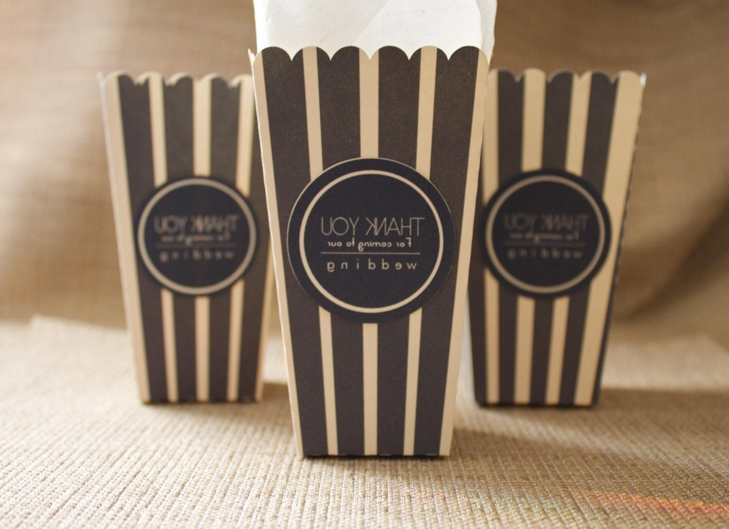 Mini Popcorn Black and Ivory