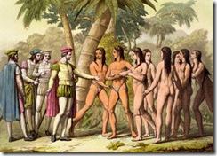 christopher-columbus-and-hernan-cortes-receiving-a-native-american-girl-as-a-gift