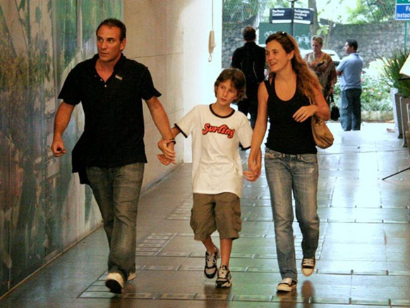 Adriana Esteves con Marco e Felipe Ricca