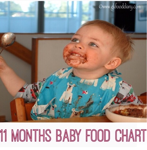 Food Chart for 11 month old Baby