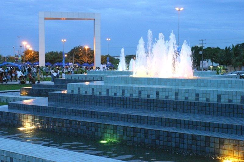 Praça das Aguas - Boa Vista, Roraima, fonte Turismo Brasil