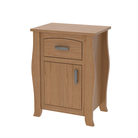 Matching Furniture Piece: Cascade Nightstand with Door, Natural Cherry