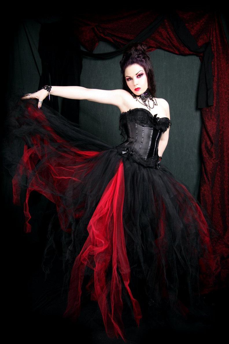 black and red gothic wedding