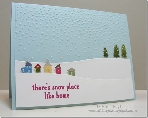 LeAnne Pugliese WeeInklings Snow Place Sleigh Ride Stampin Up Christmas