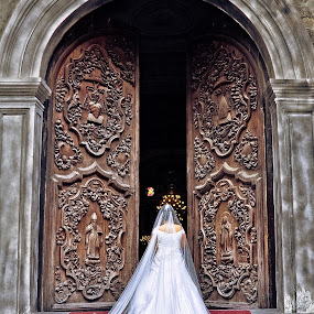 Marching for Another Journey - Jackie Aguilar (Bride) by Wallei Trinidad - Wedding Bride ( wedding )