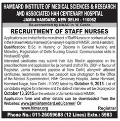 HIMSR Staff Nurses indgovtjobs