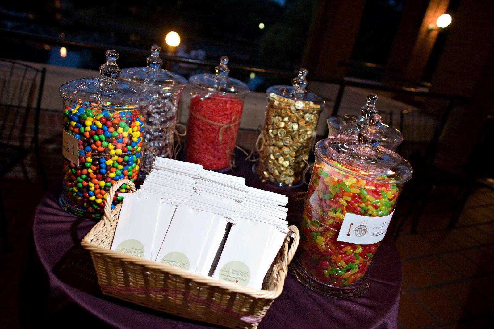 Multi-colored Candy Buffet