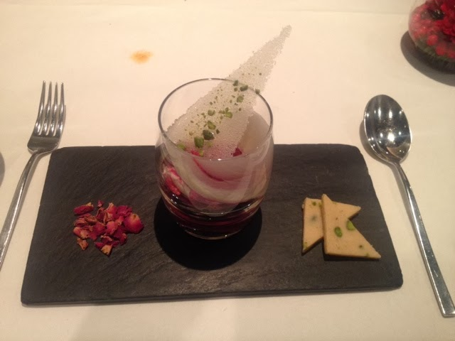 The taster menu dessrt at Benares - Barfi!