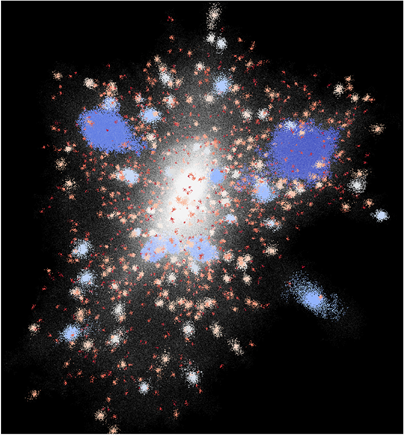 as galáxias têm halos em torno delas