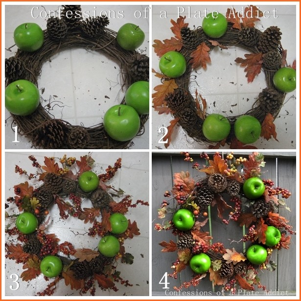 CONFESSIONS OF A PLATE ADDICT Transitioning into Fall...Apple and Bittersweet Wreath tutorial