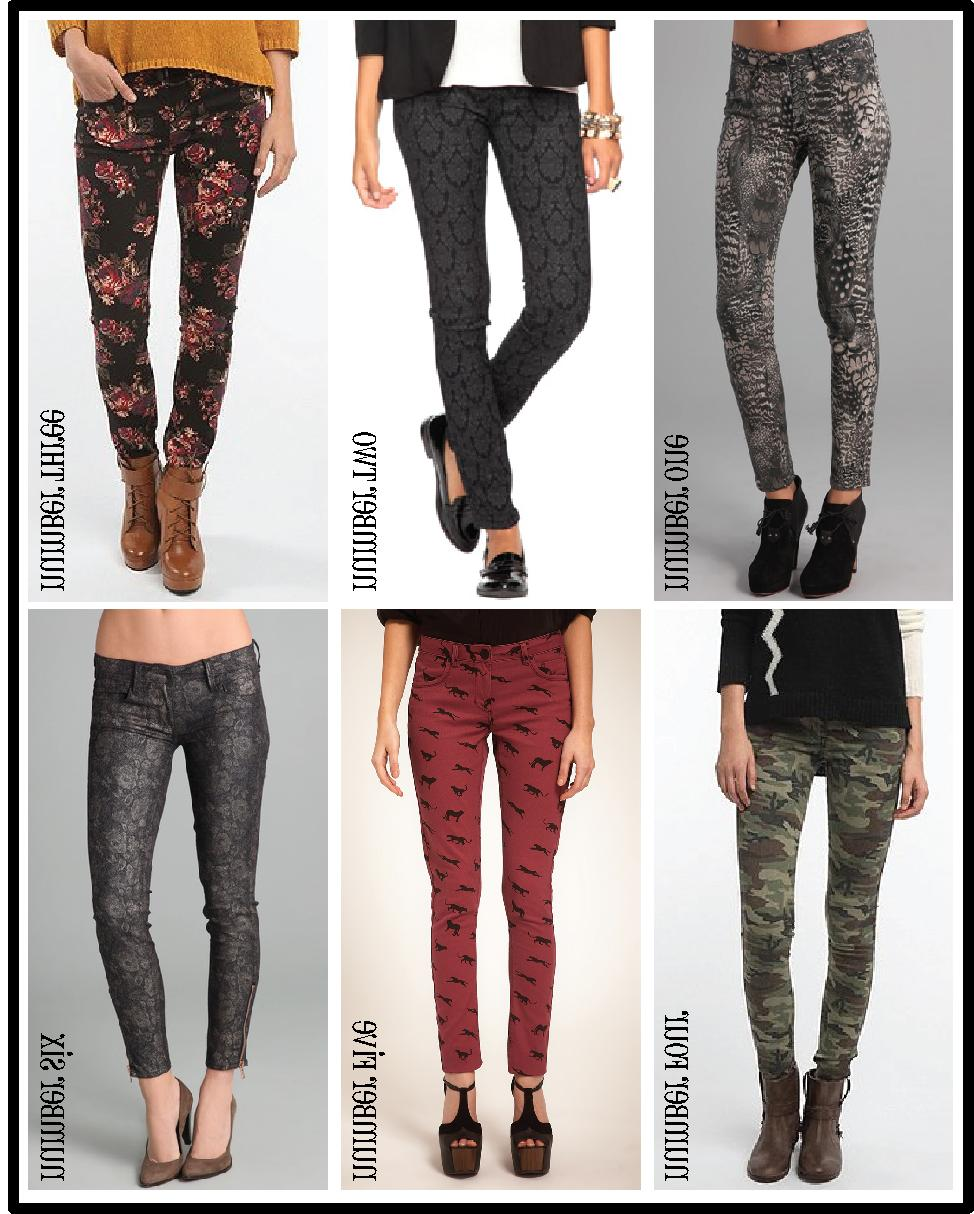 1   Feather printed legging