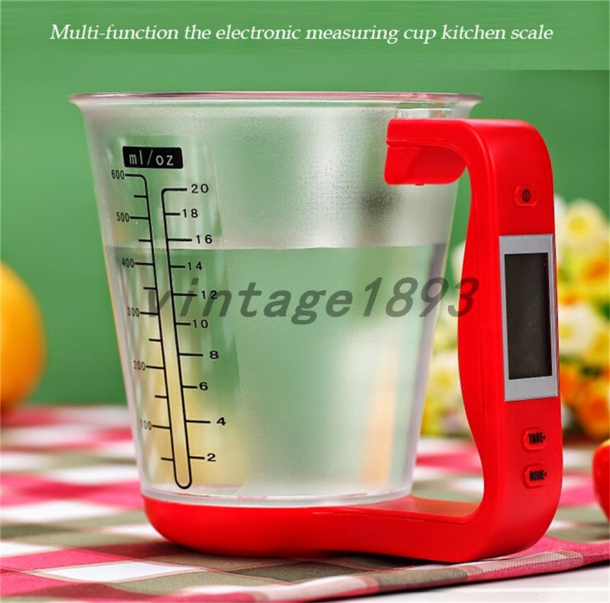 Electronic Measuring Cup : Ml electronic measuring cup kitchen scale baking liquid