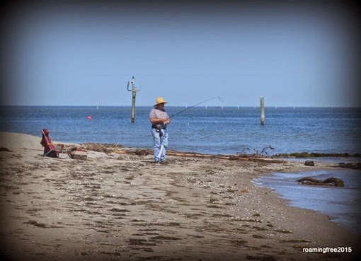 Fisherman on the beach