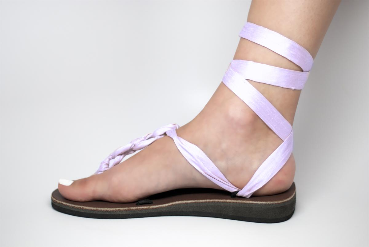 Lilac Wedding Sandals. View detailed images  2