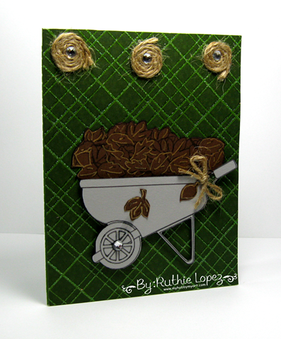 The Cutting Cafe - Greeting Card with a gift card holder - Wheelbarrow deliveries - Card - Ruthie Lopez 3