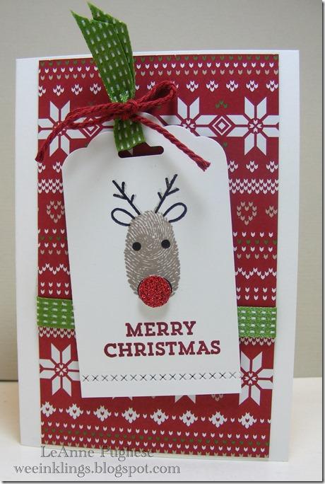 LeAnne Pugliese WeeInklings Technique Tuesday Deer Christmas