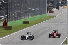 Rosberg e Raikkonen al gran premio d'Italia 2015