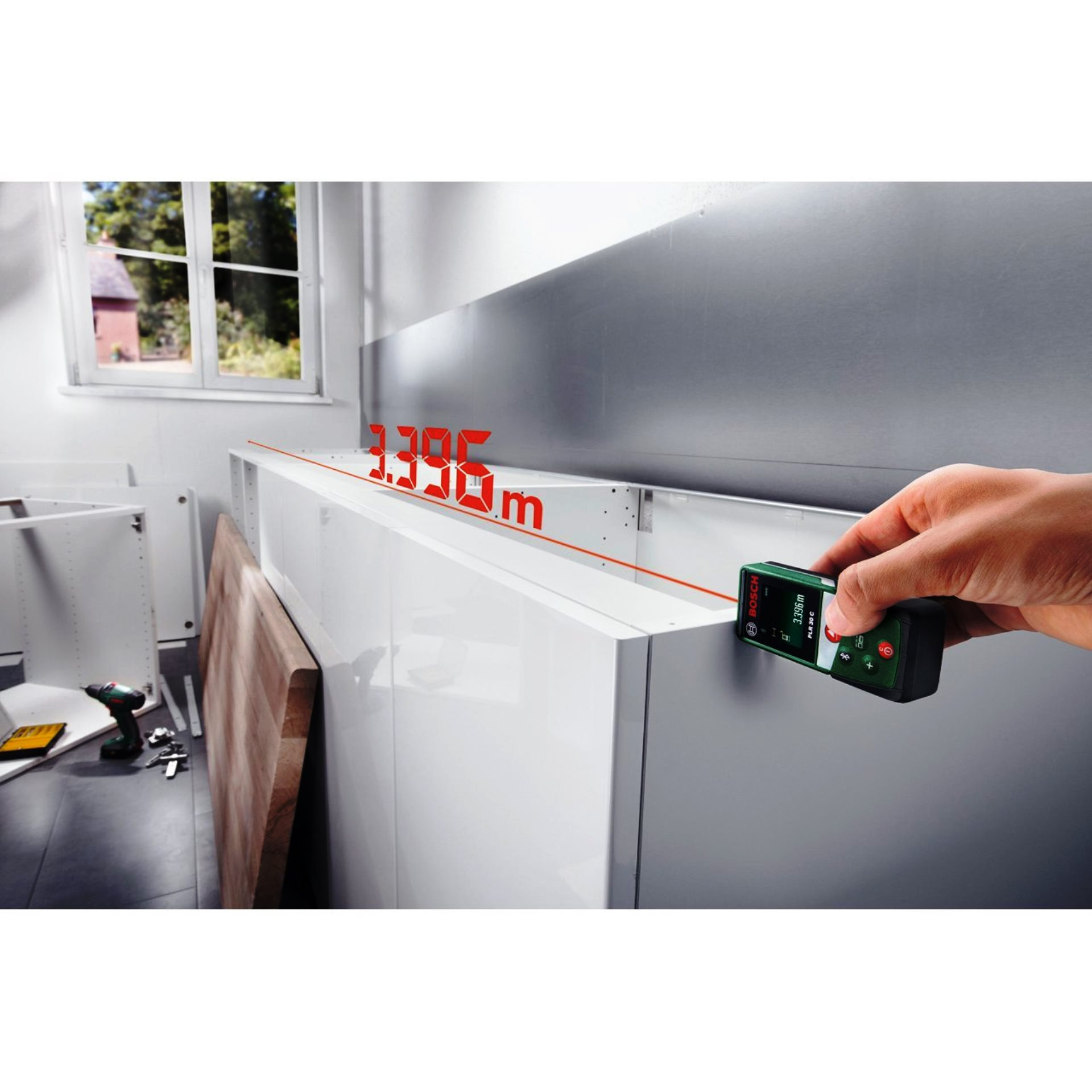 Bosch PLR 30 C, distanziometro e laser digitale per misurazioni - Scheda, recensione e opinioni