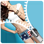 American Girl Zip Locker - Lockscreen Zipper theme Icon