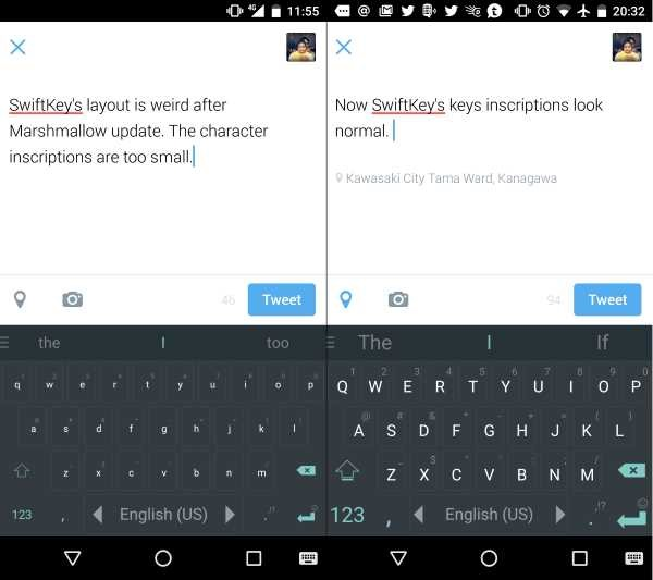 SwiftKey on Marshmallow