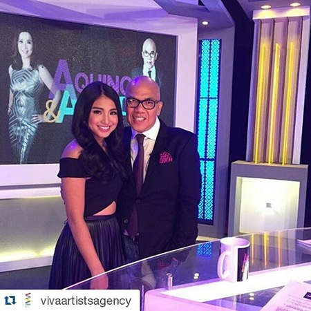 Nadine Lustre and Boy Abunda