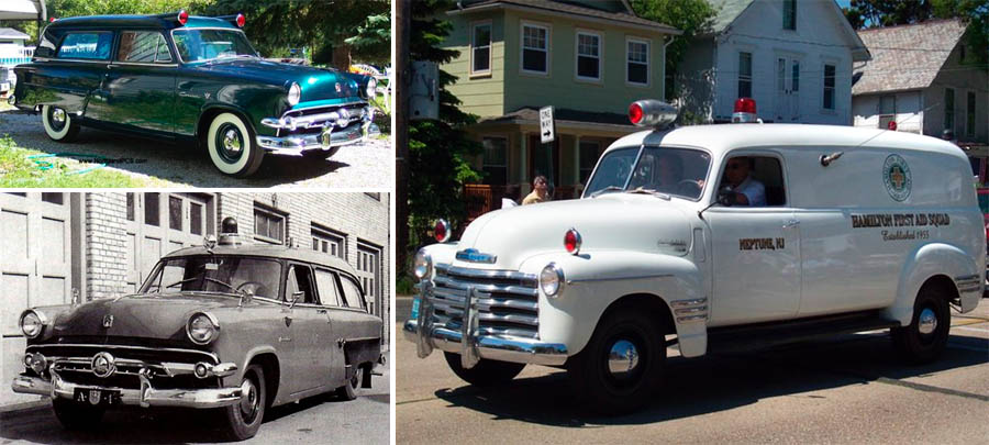 Dark Roasted Blend: Awesome Vintage Ambulance Cars